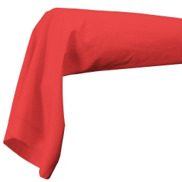 Taie de traversin 85 x 185 cm uni 57 fils lina  + point bourdon Corail