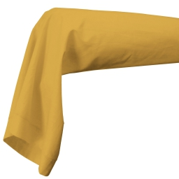 Taie de traversin 85 x 185 cm uni 57 fils lina  + point bourdon Miel
