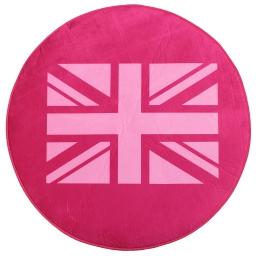 Tapis (0)90 velours imp. uk flag Rose