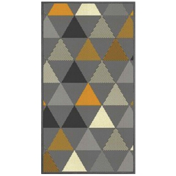 Tapis bouclette déco rectangle 60 x 110 cm tisse twini Jaune