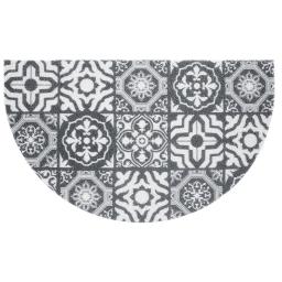 tapis d'entree demi-lune 45 x 75 cm pvc lisbonne