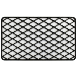 Tapis d'entree rectangle 34 x 58 cm pvc grille Noir