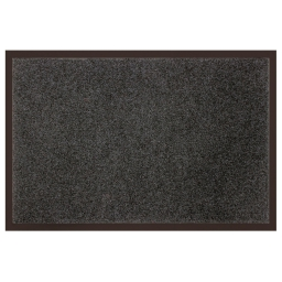 Tapis d'entree rectangle 40 x 60 cm anti-poussiere uni telio Gris