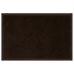 Tapis d'entree rectangle 40 x 60 cm anti-poussiere uni telio Noir
