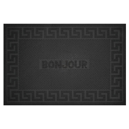 tapis d'entree rectangle 40 x 60 cm caoutchouc loic
