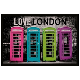 tapis d'entree rectangle 40 x 60 cm photoprint love london