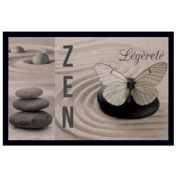 tapis d'entree rectangle 40 x 60 cm photoprint zen leger