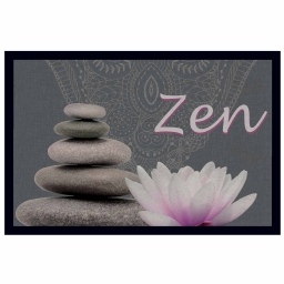 tapis d'entree rectangle 40 x 60 cm photoprint zen lotus