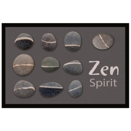 tapis d'entree rectangle 40 x 60 cm photoprint zen stones