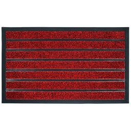 Tapis d'entree rectangle 45 x 75 cm pvc grattoir marco Rouge