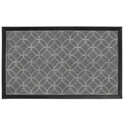 Tapis d'entree rectangle 45 x 75 cm relief pvc emilio Gris