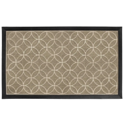 Tapis d'entree rectangle 45 x 75 cm relief pvc emilio Naturel