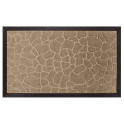 Tapis d'entree rectangle 45 x 75 cm relief pvc galets Naturel