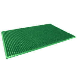 Tapis d'entree rectangle 58.5 x 38.5 cm polyethylene grattoir Vert