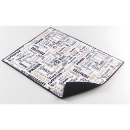 Tapis d'evier confectionne 38 x 50.5 cm microfibre easy deco Noir