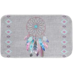 tapis de bain 45 x 75 cm microfibre imprimee amerindien des. place