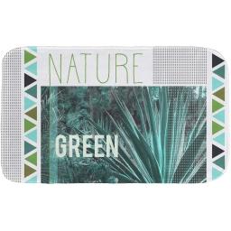 tapis de bain 45 x 75 cm microfibre imprimee green nature des. place