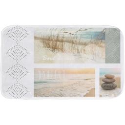 tapis de bain 45 x 75 cm microfibre imprimee palavas des. place