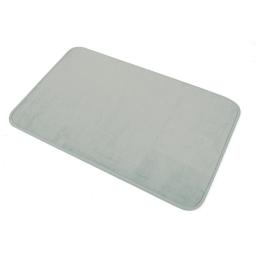 Tapis de bain 45 x 75 cm microfibre unie vitamine Taupe