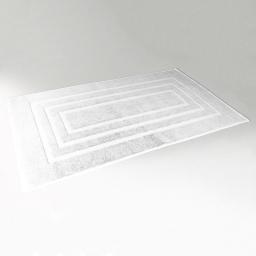 Tapis de bain 50 x 85 cm eponge unie vitamine Blanc
