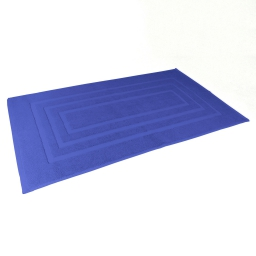 Tapis de bain 50 x 85 cm eponge unie vitamine Bleu