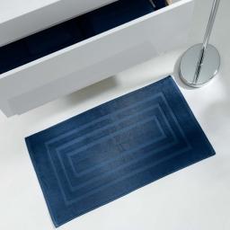 Tapis de bain 50 x 85 cm eponge unie vitamine Bleu nuit