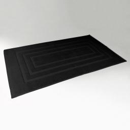 Tapis de bain 50 x 85 cm eponge unie vitamine Noir