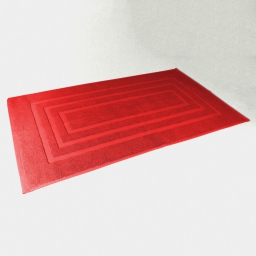 Tapis de bain 50 x 85 cm eponge unie vitamine Rouge
