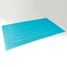 Tapis de bain 50 x 85 cm eponge unie vitamine Turquoise
