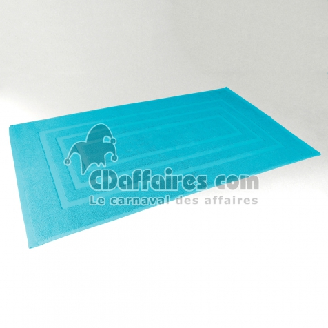 tapis de bain 50 x 85 cm eponge unie vitamine turquoise. Black Bedroom Furniture Sets. Home Design Ideas