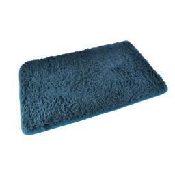 Tapis de bain chinchilla microfibre 50*80cm vitamine bleu emeraude Bleu/emeraude