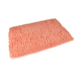 Tapis de bain chinchilla microfibre 50*80cm vitamine Corail