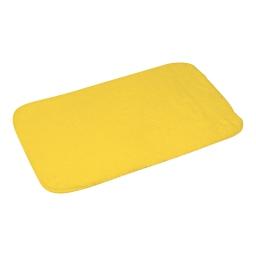 tapis de bain chinchilla microfibre 50*80cm vitamine jaune