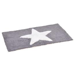 tapis de bain coton 50*80cm etoile gris