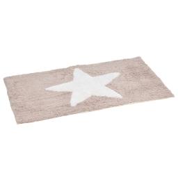 tapis de bain coton 50*80cm etoile taupe