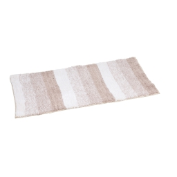 tapis de bain coton 50*80cm rayé taupe