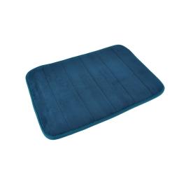 Tapis de bain memoire de forme microfibre 40*60cm vitamine bleu emeraude Bleu/emeraude