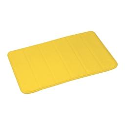 tapis de bain mémoire de forme microfibre 40*60cm vitamine jaune