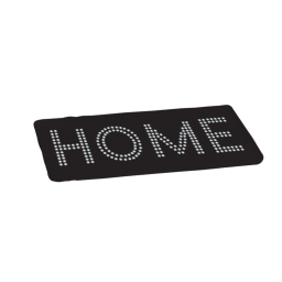 tapis de bain microfibre 45*75cm glitter home noir