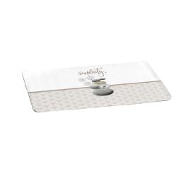 tapis de bain microfibre 45*75cm mineral