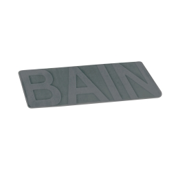 "tapis de bain microfibre relief ""bain"" 45*75cm vitamine anthracite"