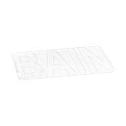 "tapis de bain microfibre relief ""bain"" 45*75cm vitamine blanc"
