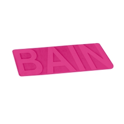 """tapis de bain microfibre relief """"bain"""" 45*75cm vitamine fuchsia"""