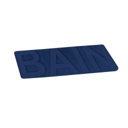 "tapis de bain microfibre relief ""bain"" 45*75cm vitamine indigo"