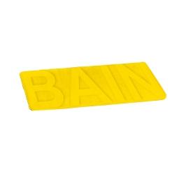 """tapis de bain microfibre relief """"bain"""" 45*75cm vitamine jaune"""