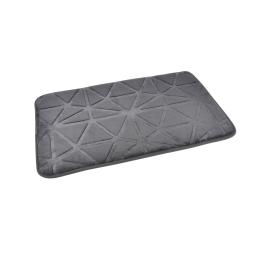 """Tapis de bain microfibre relief """"origami"""" 45*75cm vitamine Anthracite"""