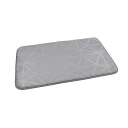 """Tapis de bain microfibre relief """"origami"""" 45*75cm vitamine Gris Clair"""