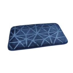 """Tapis de bain microfibre relief """"origami"""" 45*75cm vitamine Indigo"""