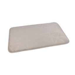 """Tapis de bain microfibre relief """"origami"""" 45*75cm vitamine Taupe"""