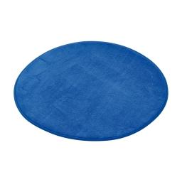 tapis de bain rond microfibre ø60cm vitamine bleu roi